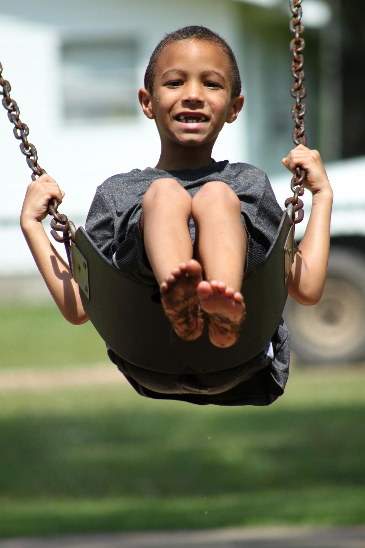 ADHD Kid on Swing